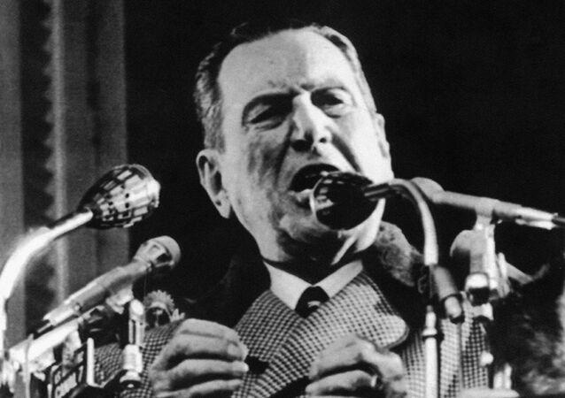 Juan Domingo Perón, expresidente de Argentina