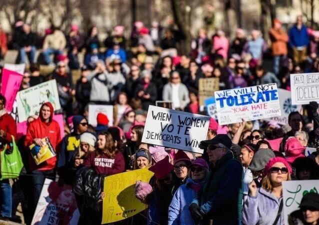 Protestas organizadas por la Marcha de las Mujeres en EEUU
