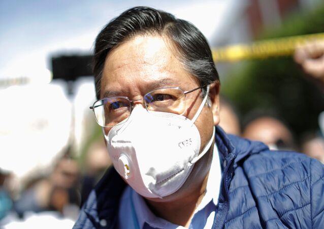 Luis Arce, candidato del MAS a la Presidencia de Bolivia