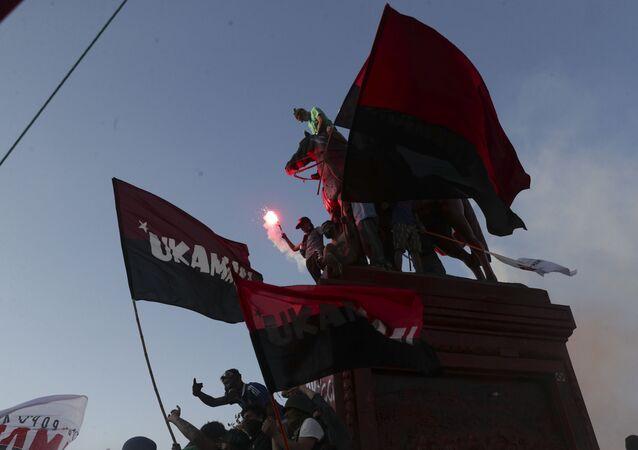 Protesta antigubernamental en Chile (archivo)
