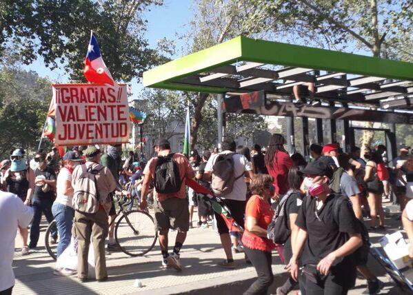 La juventud fue recordada como protagonista del estallido social en Chile - Sputnik Mundo
