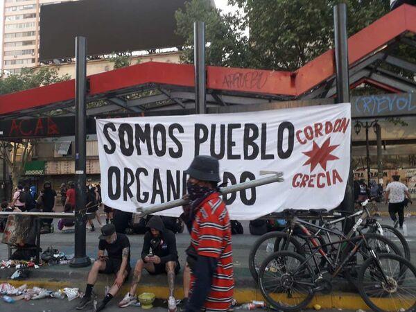 Chilenos recuerdan un año del histórico estallido social  - Sputnik Mundo