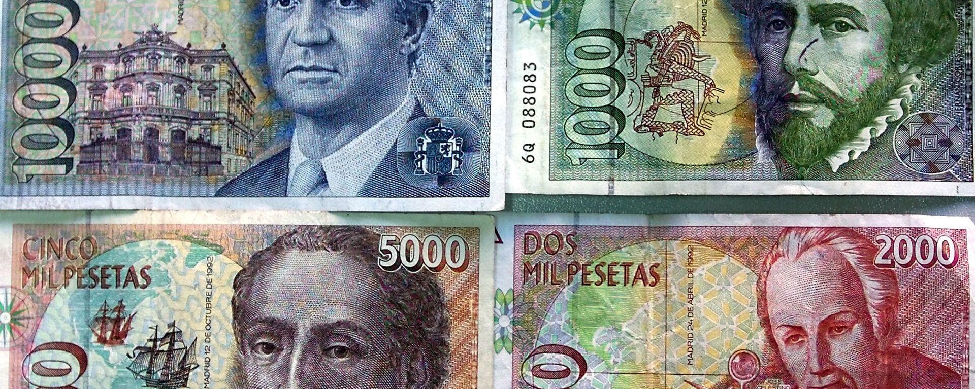 Billetes de pesetas - Sputnik Mundo, 1920, 19.10.2020