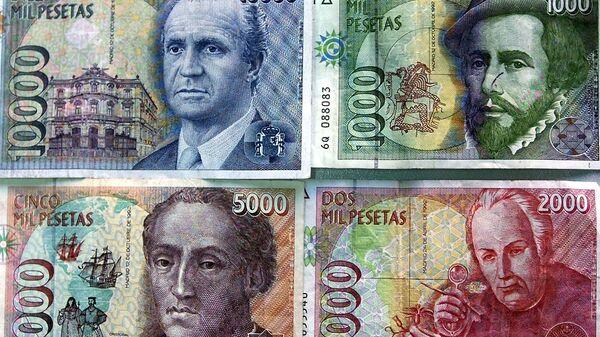 Billetes de pesetas - Sputnik Mundo