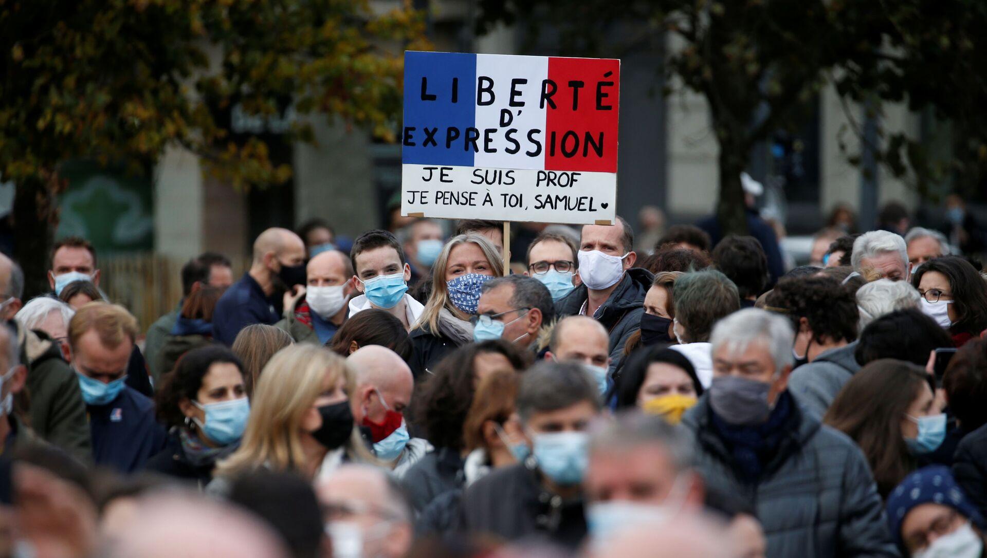 Protestas en Francia por la decapitación de un profesor - Sputnik Mundo, 1920, 19.10.2020
