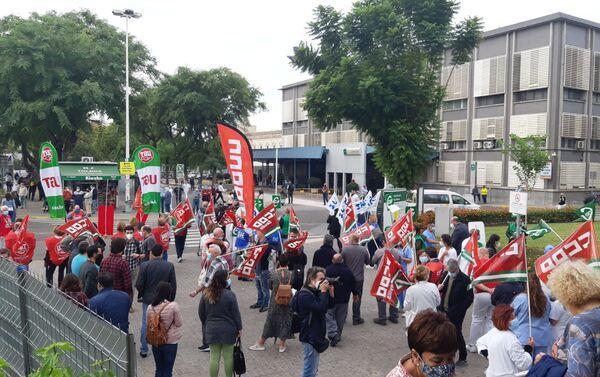Cocentración en Hospital Macarena (Sevilla) para exigir mejoras en atención primaria - Sputnik Mundo