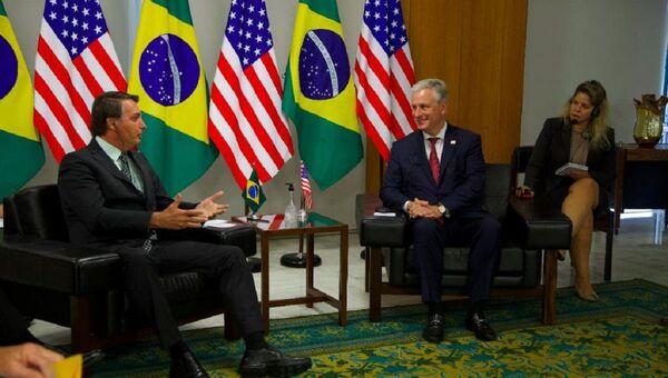 El presidente de Brasil, Jair Bolsonaro, y el asesor de seguridad nacional de EEUU Robert O'Brien - Sputnik Mundo