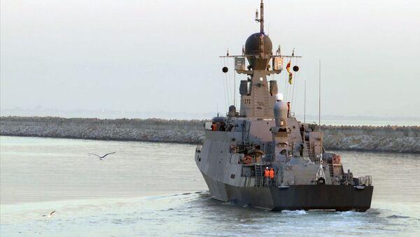 Сorbeta Uglich durante ejercicios en el mar Caspio - Sputnik Mundo