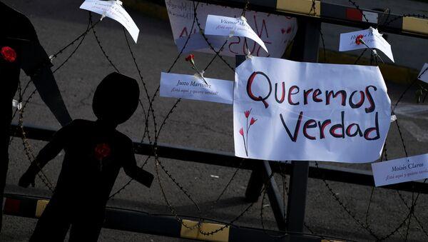 Protestas contra Impunidad por matanza de El Mozote - Sputnik Mundo