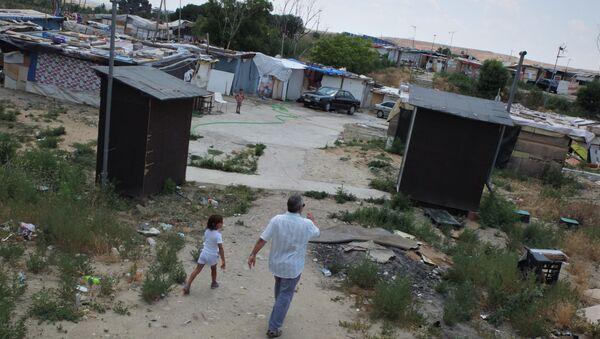 Imagen de El Gallinero, una de las zonas de la Cañada Real Galiana, asentamiento chabolista en Madrid (referencial) - Sputnik Mundo