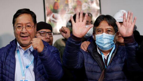 Los candidatos del MAS, Luis Alberto Arce Catacora y David Choquehuanca - Sputnik Mundo