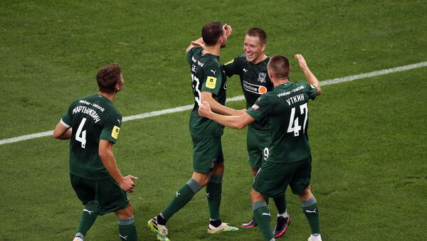 Jugadores del FC Krasnodar, uno de los tres equipos rusos en la Champions League - Sputnik Mundo