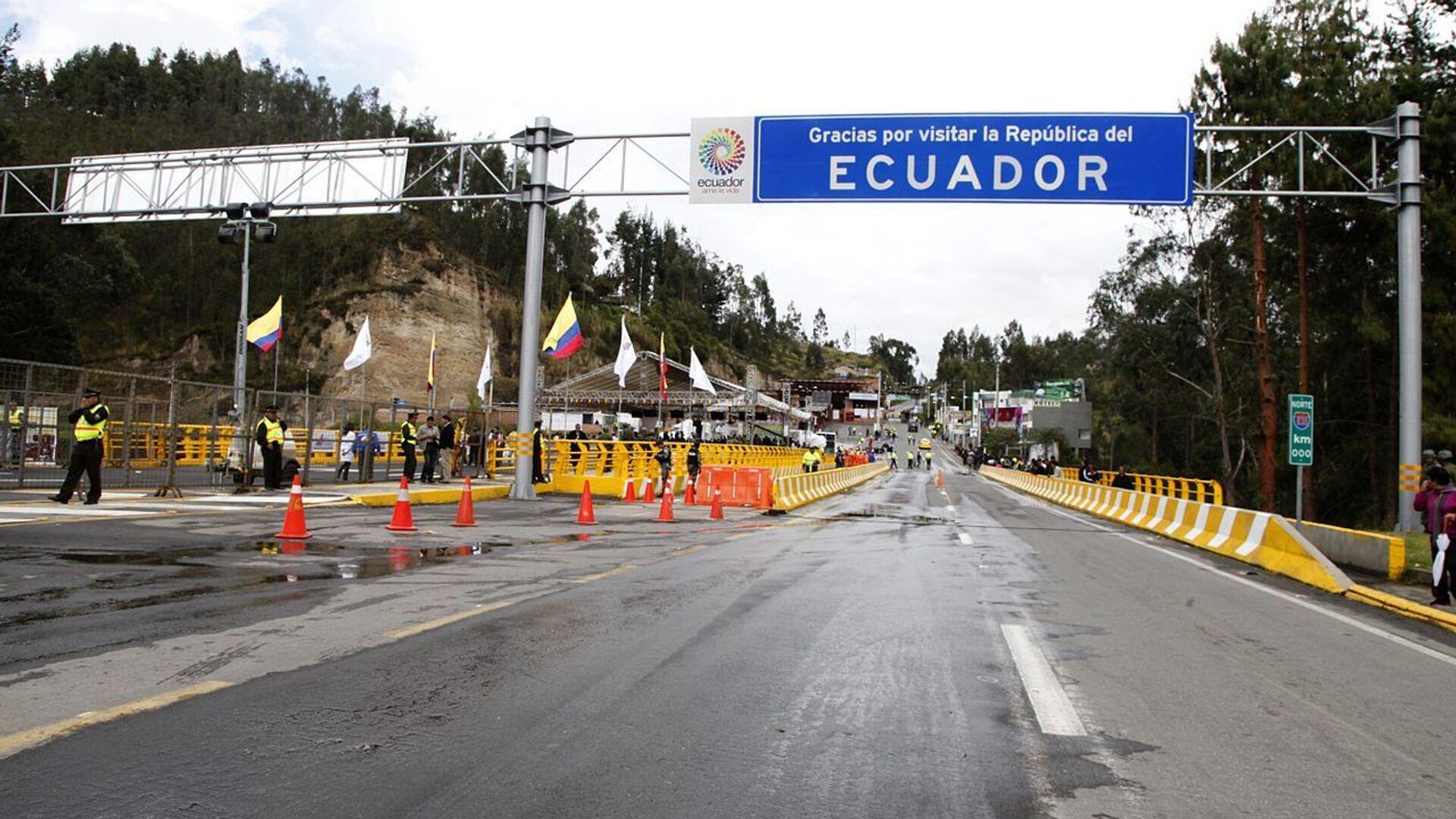 Puente internacional de Rumichaca entre Colombia y Ecuador - Sputnik Mundo, 1920, 19.05.2021