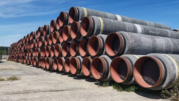 Tuberías para el gasoducto Nord Stream 2 - Sputnik Mundo
