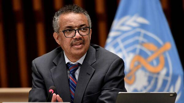 El director general de la Organización Mundial de la Salud (OMS), Tedros Adhanom Ghebreyesus - Sputnik Mundo