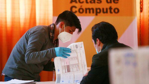 El cómputo electoral en Bolivia - Sputnik Mundo