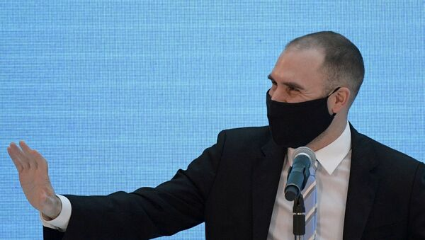 Martín Guzmán, ministro de Economía de Argentina - Sputnik Mundo