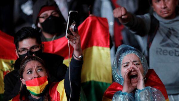 Protestas en Bolivia tras las elecciones - Sputnik Mundo