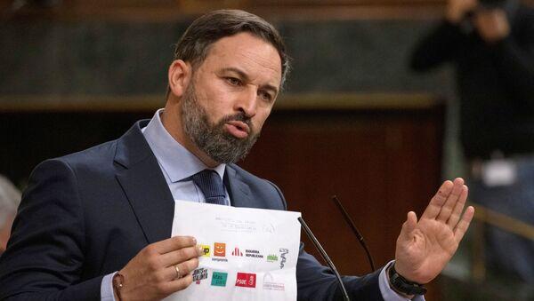 Santiago Abascal, moción de censura - Sputnik Mundo