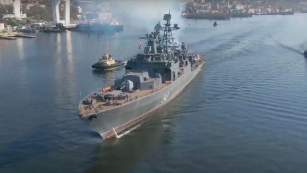 Una fragata modernizada de la Flota del Pacífico de Rusia llega al mar del Japón - Sputnik Mundo