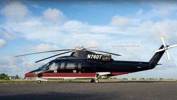 El helicóptero Sikorsky S-76B del presidente de EEUU, Donald Trump - Sputnik Mundo