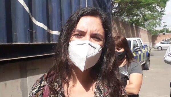 Camila Vallejo habla con Sputnik durante la jornada del plebiscito en Chile - Sputnik Mundo