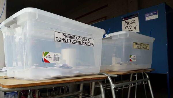 Urnas de votación para el plebiscito constitucional en Chile - Sputnik Mundo