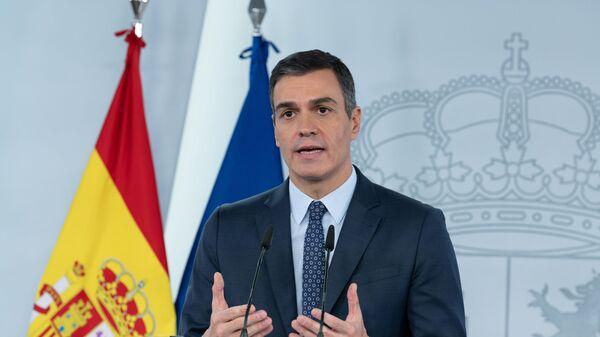Pedro Sánchez, anunciando el estado de alarma - Sputnik Mundo