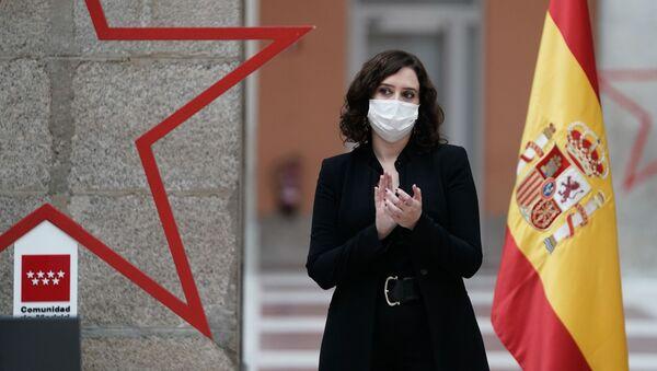 La presidenta de la Comunidad de Madrid, Isabel Díaz Ayuso - Sputnik Mundo