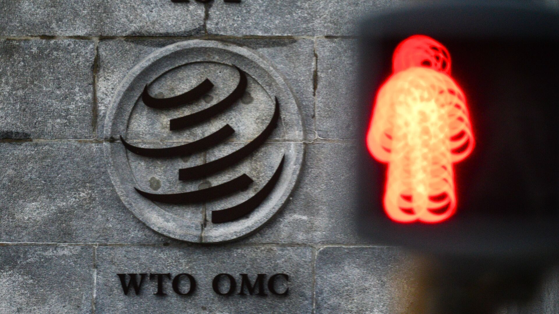 El logo de la OMC sobre su sede en Ginebra - Sputnik Mundo, 1920, 19.08.2021