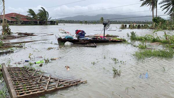 Consecuencias del tifón Quinta en Filipinas - Sputnik Mundo