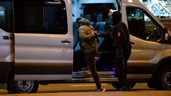 Detenciones en Minsk durante la protesta  - Sputnik Mundo