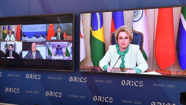 Valentina Matvienko, la presidenta del Consejo de la Federación de Rusia, en el foro BRICS 2020 - Sputnik Mundo