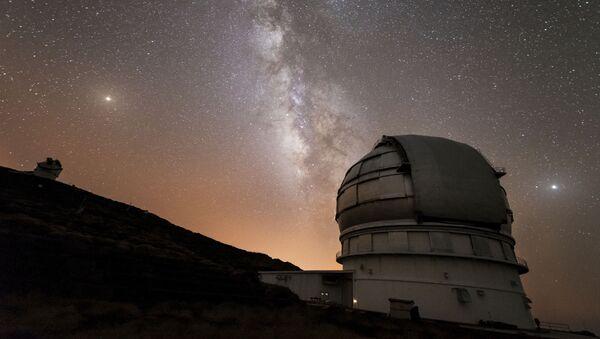 El Gran Telescopio Canarias en el Observatorio Roque de los Muchachos en la isla de La Palma en Canarias, España - Sputnik Mundo