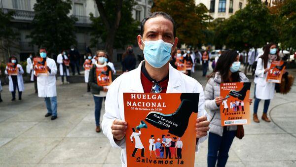 Huelga general contra militarización de la sanidad pública - Sputnik Mundo