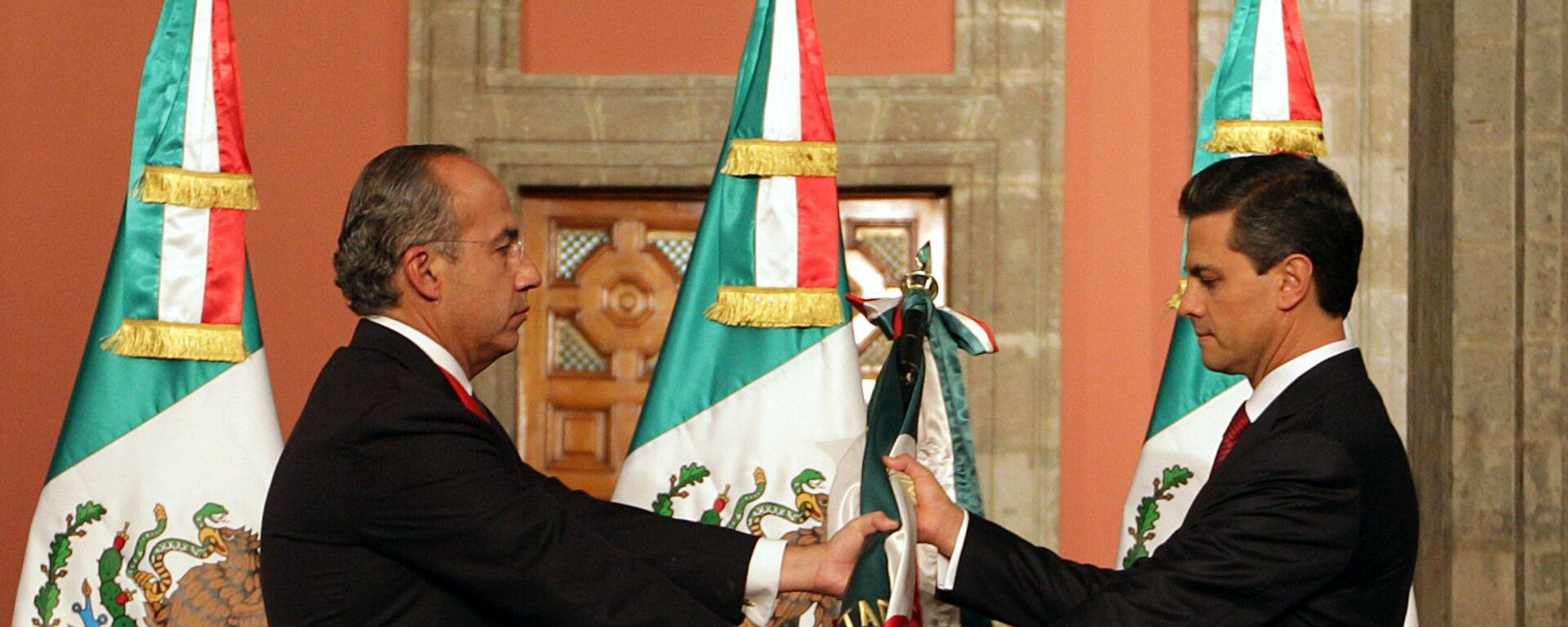 Felipe Calderón y Enrique Peña Nieto, expresidentes de México - Sputnik Mundo, 1920, 27.10.2020