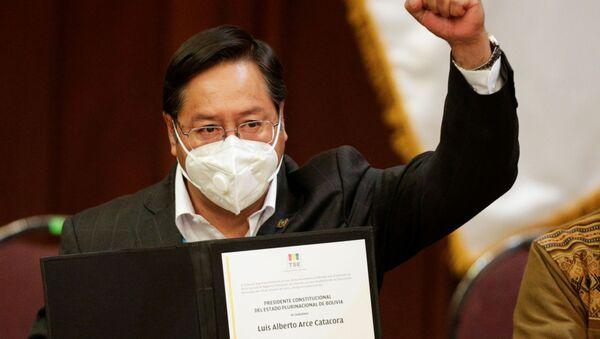 Luis Arce recibe credencial de presidente electo de Bolivia - Sputnik Mundo