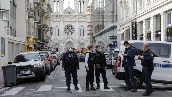 Lugar del ataque en Niza - Sputnik Mundo