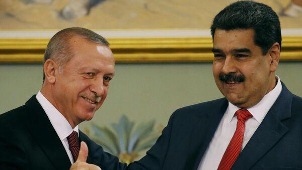 Recep Tayyip Erdogan, presidente de Turquía, y Nicolás Maduro, presidente de Venezuela - Sputnik Mundo