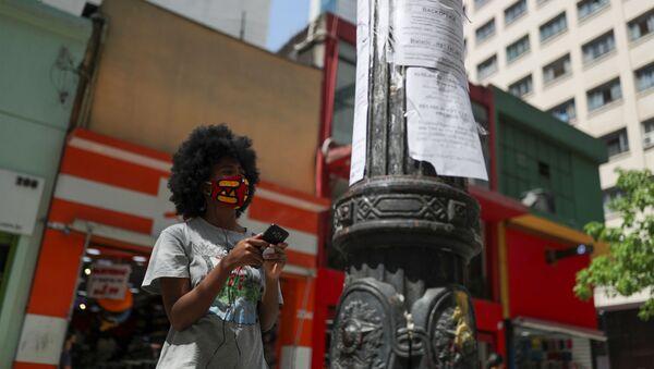 Ofertas de trabajo en un poste en Sao Paulo, Brasil - Sputnik Mundo