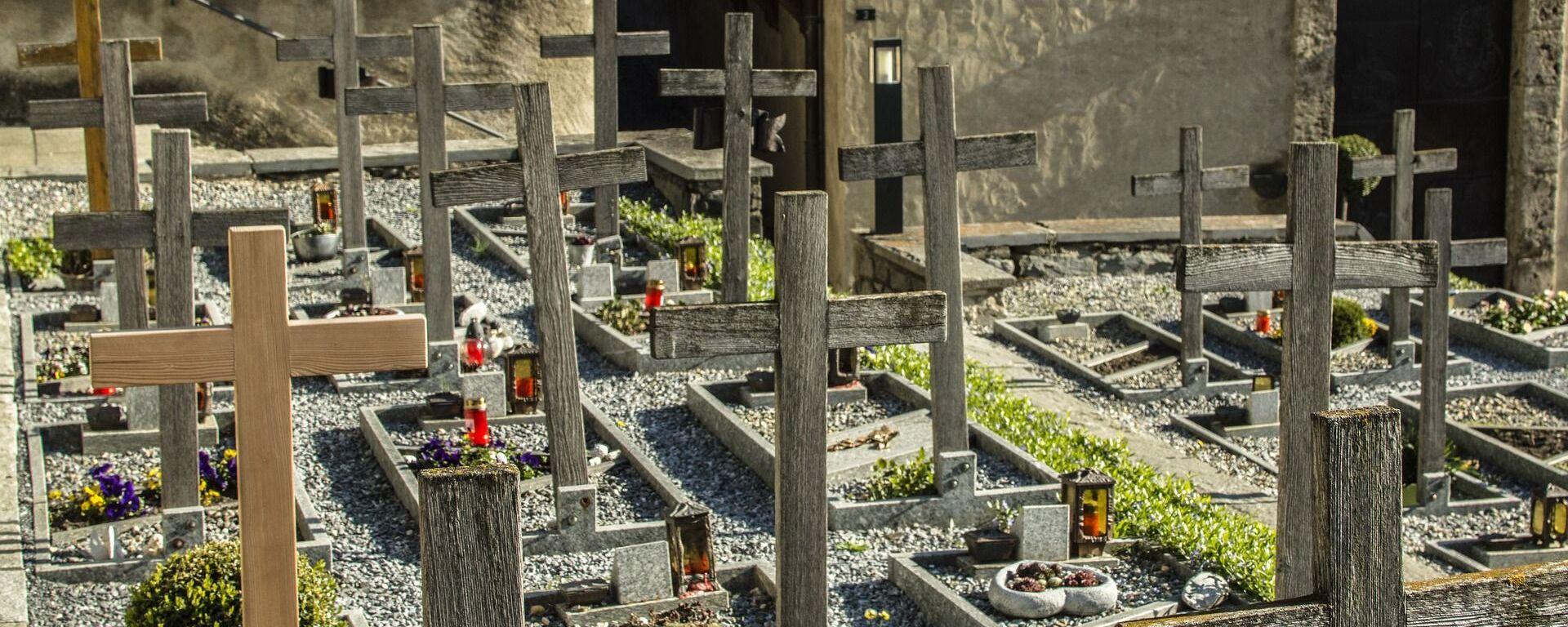 Un cementerio (imagen referencial) - Sputnik Mundo, 1920, 22.02.2021