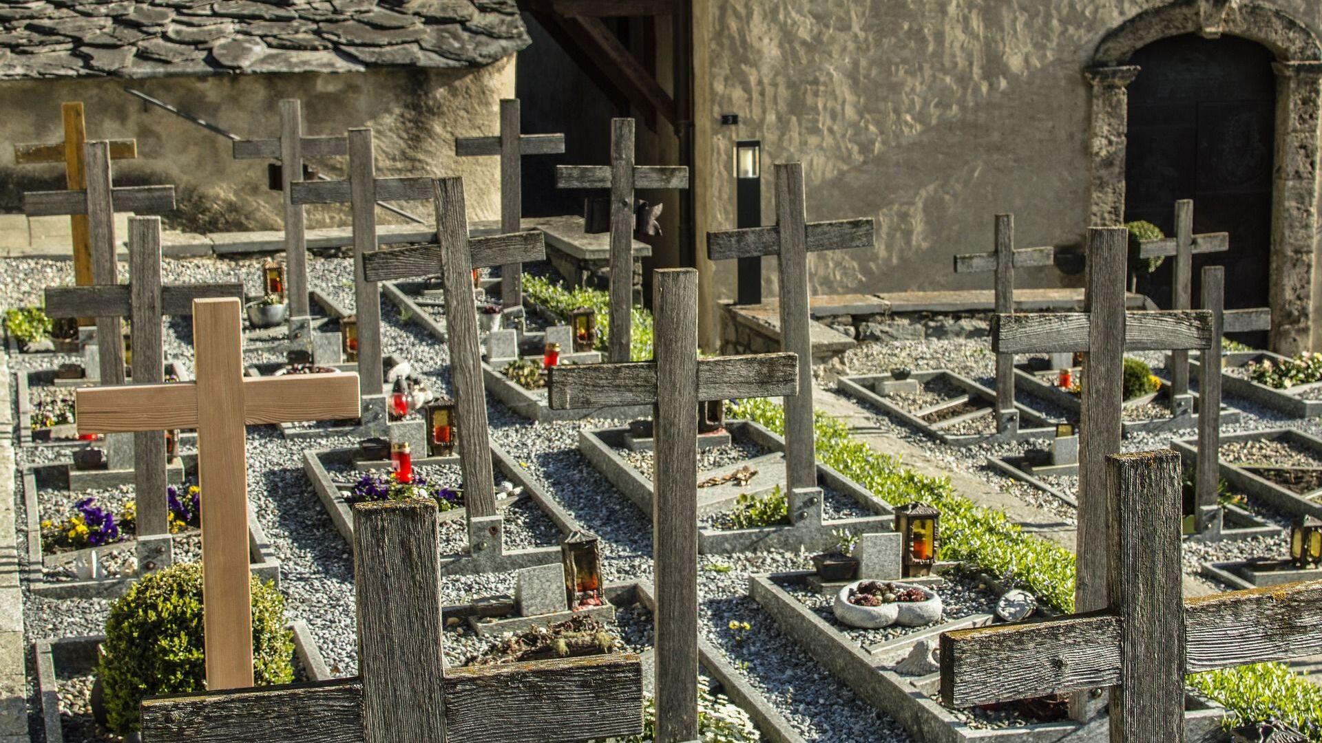 Un cementerio (imagen referencial) - Sputnik Mundo, 1920, 27.04.2021