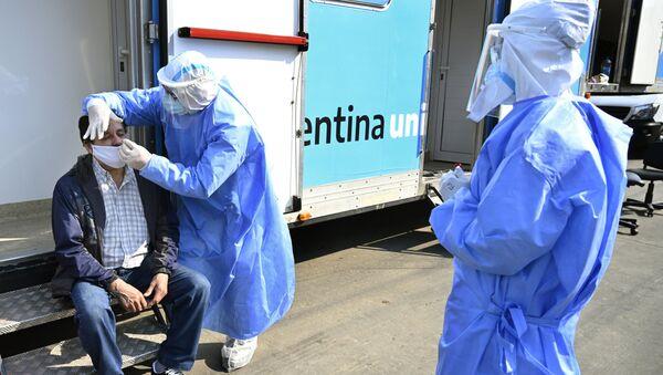 Médicos en Villa Fiorito, Buenos Aires - Sputnik Mundo