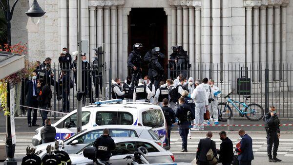 Lugar del ataque en Niza, Francia - Sputnik Mundo