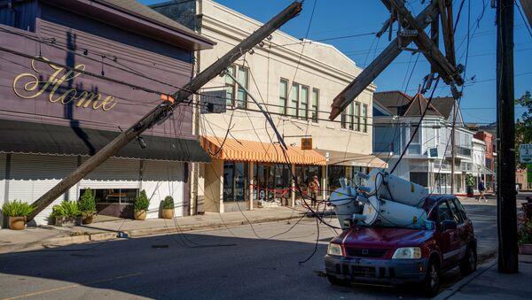 Consecuencias del huracán Zeta en Nueva Orleans, EEUU - Sputnik Mundo