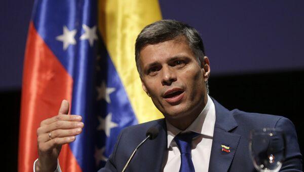 Leopoldo López, dirigente político venezolano durante una conferencia de prensa en Madrid. 27 de octubre de 2020 - Sputnik Mundo