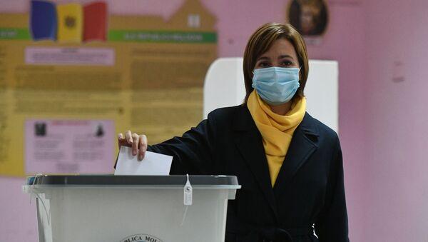 Maia Sandu, candidata a la presidencia moldava - Sputnik Mundo