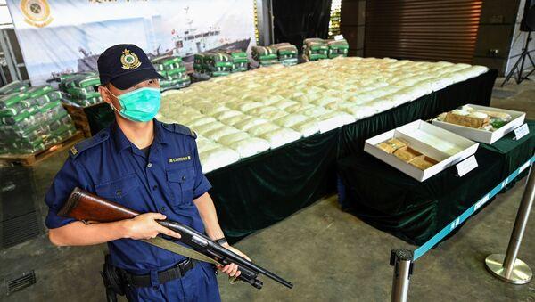 La aduana de Hong Kong incauta más de 500 kilos de droga - Sputnik Mundo