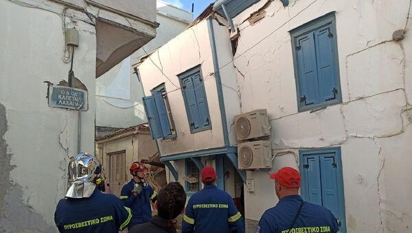 Consecuencias del terremoto en Samos, Grecia - Sputnik Mundo