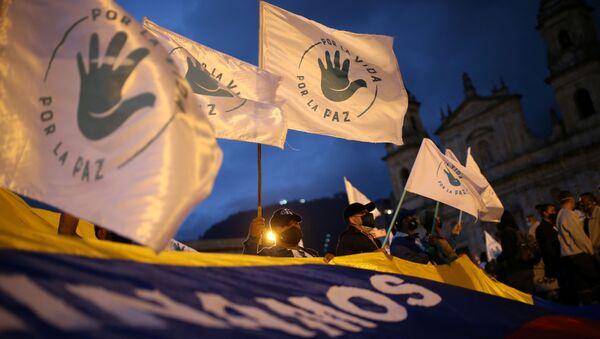 Marcha de los excombatientes de las FARC en Bogotá - Sputnik Mundo